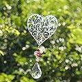 H&D Suncatcher Kristall Kronleuchter Hängende Metall Herz Anhänger von H&D Crystal Manufacture Co.,Ltd. bei Du und dein Garten