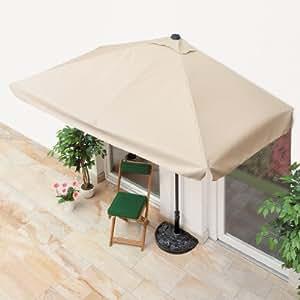 ombrellone da balcone con base beige sl ombrellone da. Black Bedroom Furniture Sets. Home Design Ideas