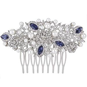 EVER FAITH® österreichischen Kristall elegant künstliche Perle Haarkämme Haarschmuck