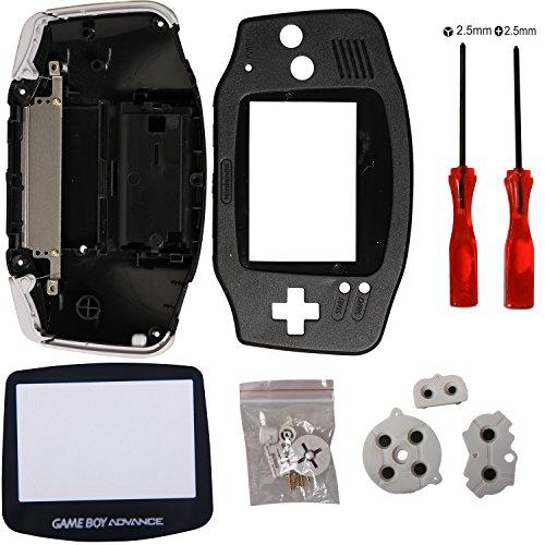 Timorn Ersatz Gehäuse Shell Pack mit Schraubenzieher für Gameboy Advance GBA Controller (Schwarz)