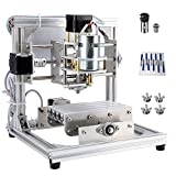 CNC Router Machine, DIY CNC Engraving Machine with 3 Axis PCB Acrylic Wood Carving Milling Engraver Machine (Working Area 130x100x40mm)