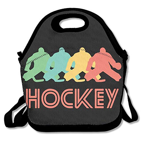 a58469254c27 Retro Hockey Pop Art Lunch Tote Insulated Reusable Picnic Lunch Bags Boxes  For Men Women Adults Kids Toddler Nurses 11x11x5.5 Inch