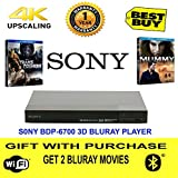 #7: Sony BDP- S6700 3D bluray 4K upscaling player Free 2 Bluray Movies