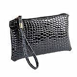 Zegeey portefeuille femme cuir elégant sac à main zippé longue bourse beau grand...