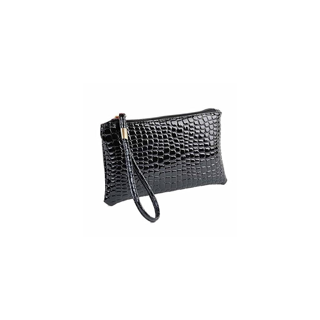 SamMoSon Borsellino portamonete con pochette in pelle di coccodrillo Pochette con pochette stampa digitale della ragazza della signora