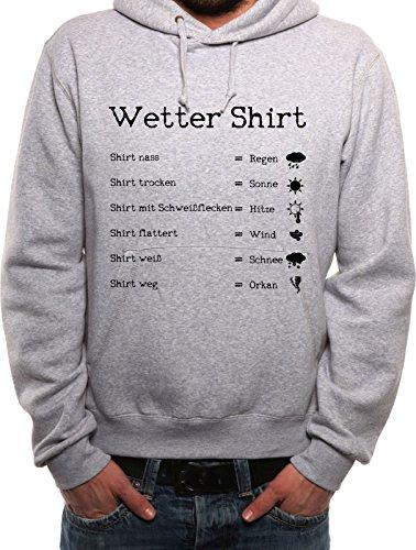 Mister Merchandise Herren Hoodie Kapuzenpullover Wetter Shirt Regen Sonne Schnee Orkan , Größe: XXL, Farbe: Grau (Bang Theory Schnee)