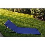 Papillon 8043521 Esterilla Playa Acolchada Reclinable con Respaldo Plegable, Unisex Adulto, Azul, Talla Única