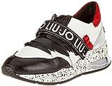 Liu Jo Shoes Mädchen Karli Sneaker, Mehrfarbig (Black/White/Red 1s19a), 38 EU
