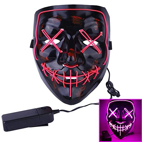 Contever Halloween Masken, LED Light EL Wire Cosplay Maske, DJ Party Festival Halloween Kostüm LED Maske Kostüme Weihnachten Tanzen Party Pub Klub - Mehrere ()