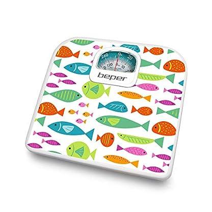 Beper 40.812F2 – Bascula de bano analogica con diseno peces