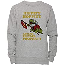 Hippity Hoppity Abolish Private Property - USSR Unisexo Hombre Mujer Sudadera Jersey Pullover Gris Todos Los