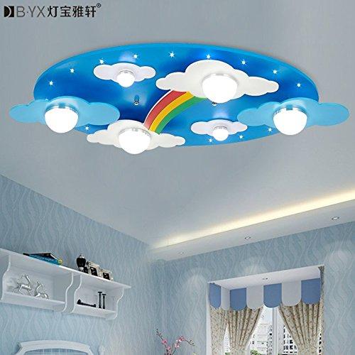 JJ LED modernes ceiling lamp accueillant les nuages rainbow children's room lamp plafonnier LED pour les garçons et les filles l'éclairage de la Chambre des lampes 730*400*120 mm cartoon, bleu, 220V-240V