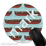 Maus-Pad Kanu,7 inch rund Mouse-Pad mit rutschfester Unterlage Standard 1V1981