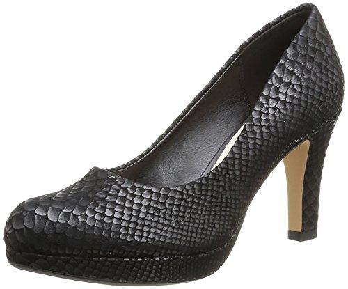 Clarks Crisp Kendra, Escarpins femme Noir (Black Snake)