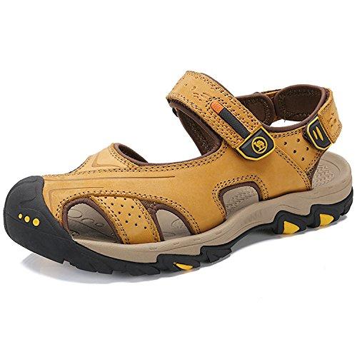 Camel crown sandali sportivi estivi scarpe da spiaggia outdoor da uomo outdoor per il tempo libero in pelle da pescatore scarpe sandali traspiranti chiuso-punta