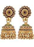 Jewelstone Brass f Gold Plated Jhumki fo...