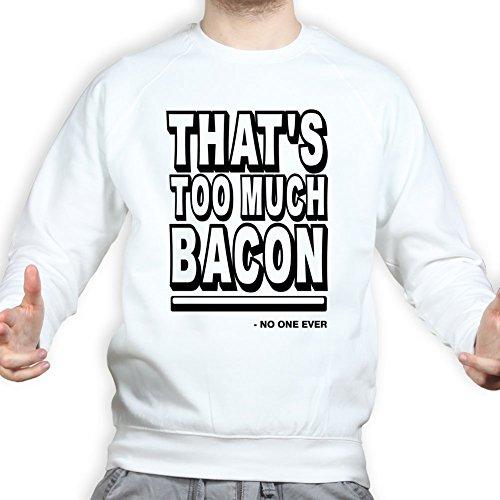 TooMuchBaconStripsBaconstripsEpicMealSweatshirtWHT3XL XXXL White -