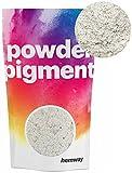 Hemway Pigment-Puder, Farbe, ultra-strahlend, metallische Farbpigmente für Epoxidharz, Polyurethanfarbe, weiß