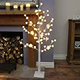 Festive Lights Rose Wishing Arbre–125cm de Haut–Blanc–LED Blanc Chaud–Plug-in