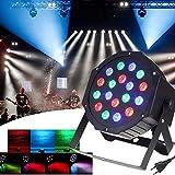 Dj Licht, SOLMORE 18W Par Licht DMX 512 Bühnenlicht Discolicht Partybeleuchtung Lichteffekt Party Projektor für DJ KTV Disco Musik Party Show
