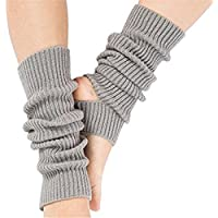 DWE Woman Yoga Socks, Knitted Long Sport Leg Warmers Gym Fitness Dancing Female Girls Daily Wear Exercising Keep Warm Latin Dance