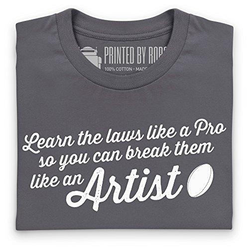 Like An Artist T-Shirt, Herren Anthrazit