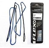 Flexarchery Dacronsehne Blau, Stringflex f. Recurvebogen, Sehne 48-70 Zoll in 10-12 Strang