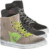 Dainese Street Biker Air Schuhe, Carbon-Dark/Rot, Größe 42