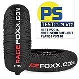 Reifenwärmer RACEFOXX PRO umschaltbare Heiztemperatur 60 oder 80 Grad C SUPERBIKE, 120/17 vorne und 180 bis 200/17 hinten mit Koffer