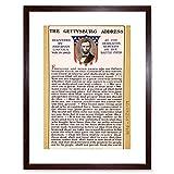WAR AMERICAN CIVIL LINCOLN GETTYSBURG ADDRESS PRESIDENT FRAMED PRINT B12X5815