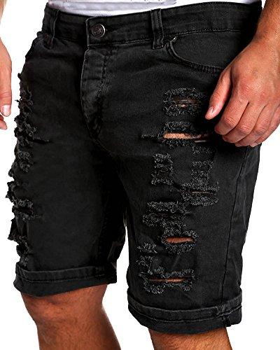 Herren Jeans-Bermuda Shorts Destroyed Biker Jeans-Bermuda Shorts