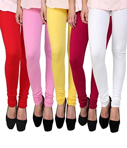 ZAKOD Women\'s Cotton Lycra Churidar Leggings Combo Pack New Designs Combo of 5