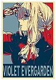 Poster Violet Evergarden 'Propaganda' Violet - Formato A3 (42x30 cm)