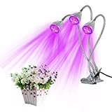 Tomshine LED Plant Grow Light Indoor Three Head 15W Red Blue Hydroponic IP44