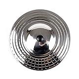 Coperchio Upit padella universale adatto a 24cm, 26cm, 28cm e 30cm, diametro pentole e padelle