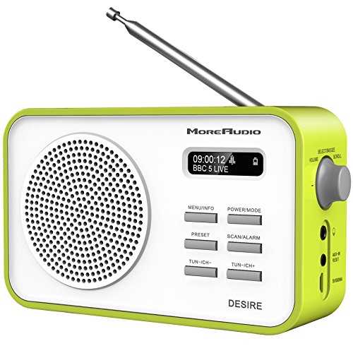moreaudio-desire-dab-digital-fm-radio-alarm-clock-rechargable-battery-mains-powered-green