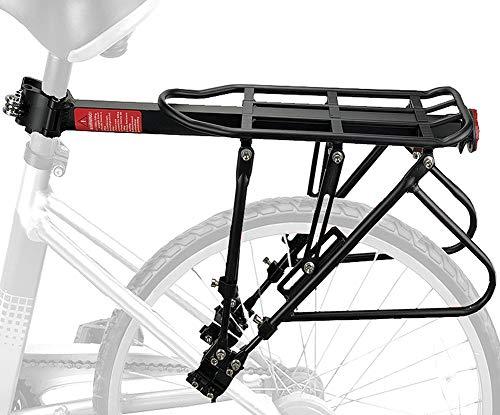 Gepäckträger Mountainbike Einstellbare Träger Fahrrad Gepäckträger Hinten MTB Gepäckträger Sattelstütze mit Reflektor (Maximalbelastung 140kg) -