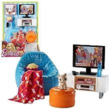 Fernseher, Sessel Mit Zubehör | Barbie | Mattel DVX46 | Möbel Wohnzimmer