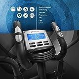 Sportstech CX625 Crosstrainer - Smartphone App kompatibel, 24 KG Schwungmasse 22 Trainingsprogrammen mit HRC-Funktion Tablet Halterung Multifunktionskonsole - 7