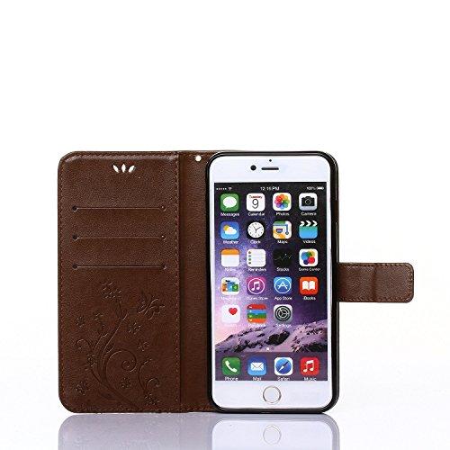iPhone SE Hülle Leder,iPhone 5S Hülle Glitzer,iPhone 5 Hülle Schwarz,iPhone SE Leder Handy Tasche Wallet Case Flip Cover Etui für iPhone 5S,EMAXELERS Ledertasche im Brieftasche für iPhone SE 5 5S Tasc E Pure 2
