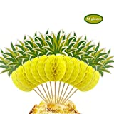 Winko 3D Ananas Cupcakes Party Supplies Topper Food Picks Party Cocktail Tropical Cupcake Picks Dekoration (50Stück)