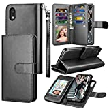 iPhone XR Case, Eutekcoo Premium PU Leather Wallet Case with [Detachable 2 in