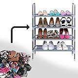 MSE 4 layer multipurpose portable foldable shoe rack