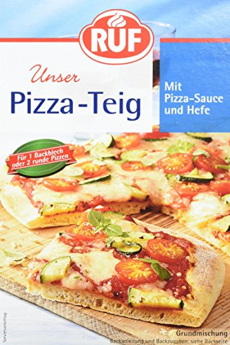 Ruf Pizza-Teig m. Hefe u. Pizza-Sauce, 10er Pack (10 x 315 g Packung)