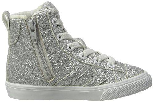 Hummel Strada Glitter Jr, Sneakers Hautes Fille Argent (Silver)