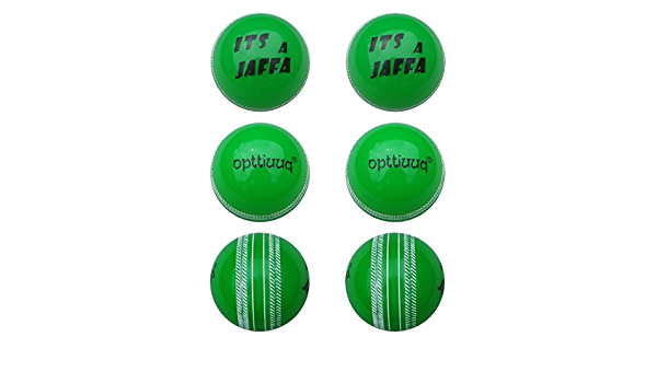Elite Quality Heavier Weight Training Play Cricket Ball ITS A JAFFA Synthetic Rubber Cricket Ball Pack of 6 Opttiuuq Youths Size Pink