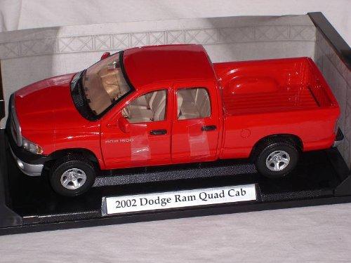 dodge-ram-quad-cab-2002-rot-pick-up-1-18-motormax-motor-max-modellauto-modell-auto