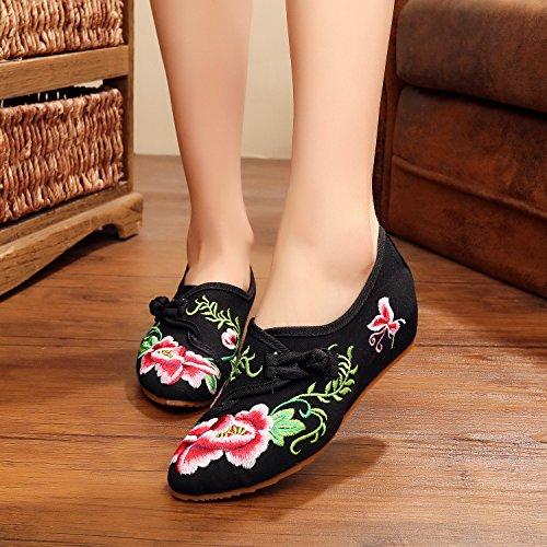 ... GXS Gestickte Schuhe, Leinen, Sehnensohle, ethnischer Stil, weibliche  Schuhe, Mode,