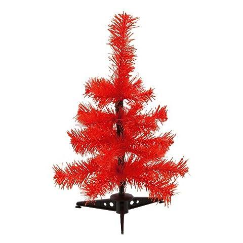 Mini Künstlicher Weihnachtsbaum - Farbige Zweige Tischweihnachtsbaum - Rot