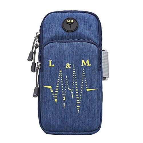 Preisvergleich Produktbild Goodtimes28 Verstellbar Handy Arm Tasche Outdoor Laufen Wandern Sport Handgelenk Tasche Fall,  Wasserdichtes Material,  Blau,  S